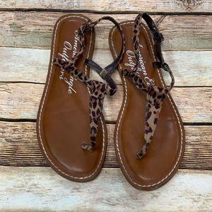 American eagle cheetah print sandals